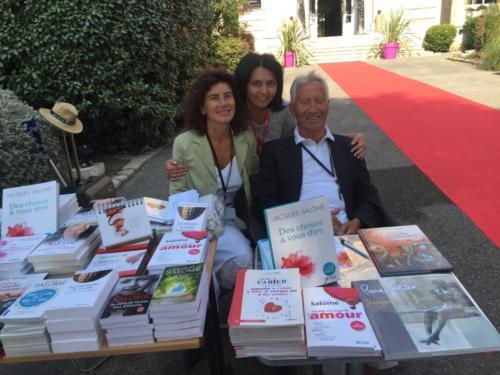© Naraprod-EventsJacques & Valeria Salomé à la Foire de Marseille avec Laurence Guglielmo.