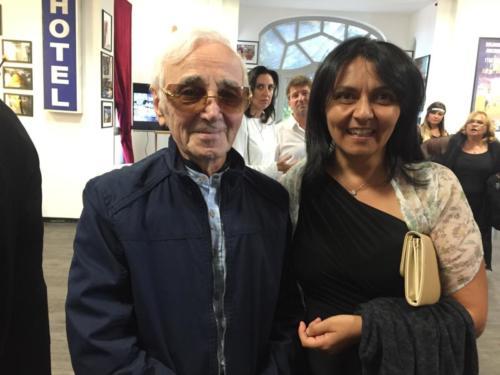 © Naraprod-EventsCharles Aznavour & Laurence Guglielmo.