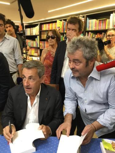 © Naraprod-EventsA NICE avec le Président Nicolas Sarkozy, Fanfan David.